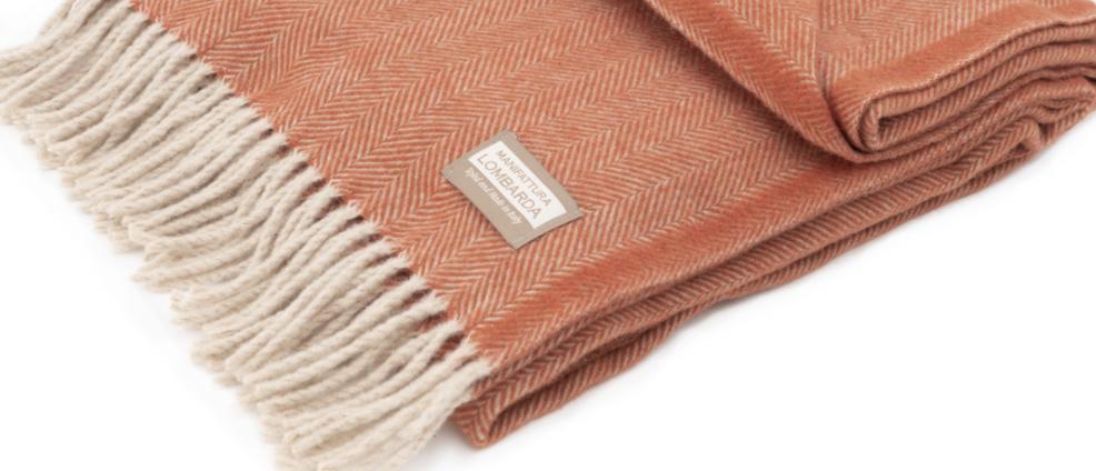 Lombarda plaid warm oranje