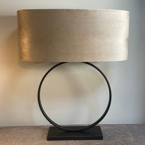 Lampenvoet Zwarte Ringlamp 50cm