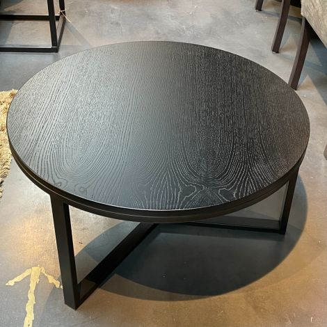 Salontafel Zwart Rond 80cm