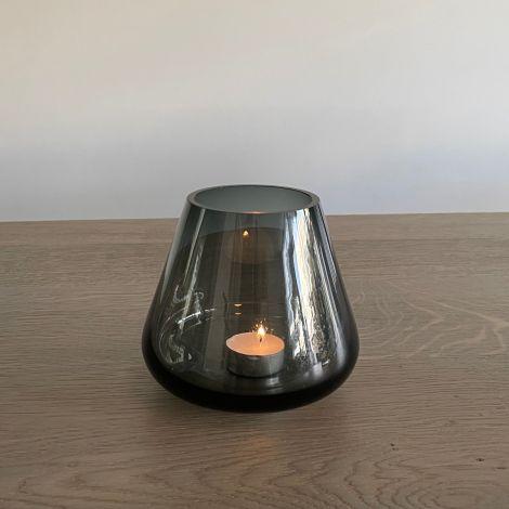 Vaas /  Windlicht Gerookt glas S