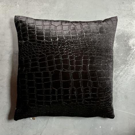 Kussen Zwart Croco