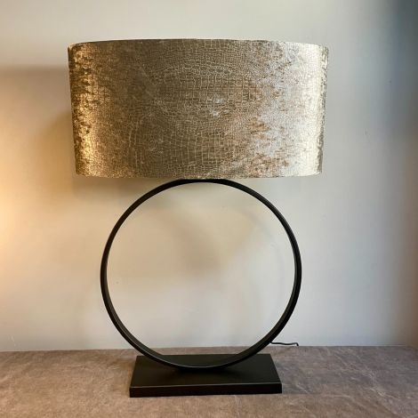 Lampenvoet Zwarte Ringlamp 40cm