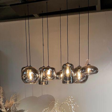 Hanglamp met glazen bollen