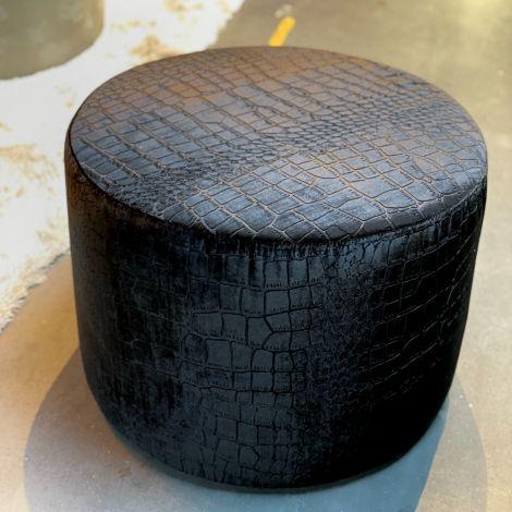 Hocker Zwart Croco