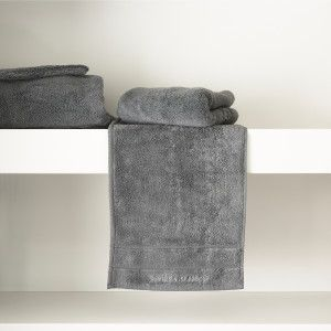 Riviera Maison RM Hotel Guest Towel anthracite 50x30