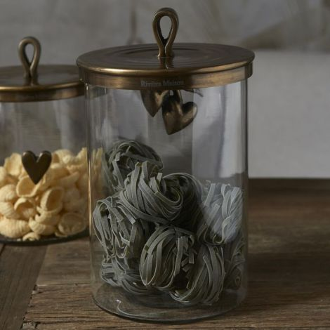 Riviera Maison Food Lovers Metal Storage Jar L