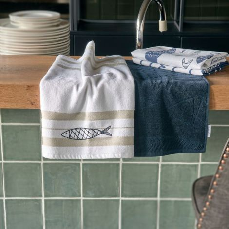 Riviera Maison The Seafood Club Kitchen Towel 2 pieces