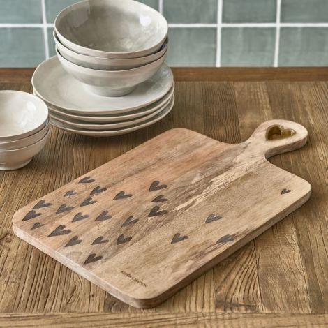 Riviera Maison Happy Hearts Chopping Board