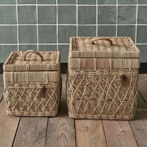 Riviera Maison RR Diamond Weave Box Set Of 2 pcs