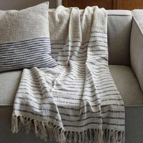 Riviera Maison Club Stripe Throw 170x130 sand