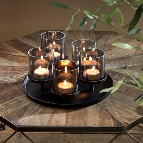 Riviera Maison Porto Candles Tray black