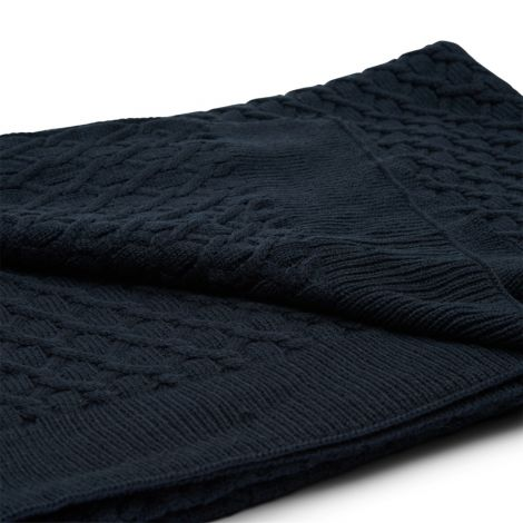 Riviera Maison RM Knitted Cable Throw 180x130 blue