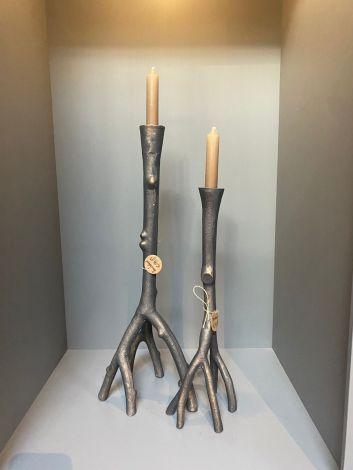 Boomstamkandelaars, brons