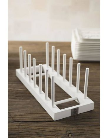 Riviera Maison Wooden Plate Rack With 7 Sticks