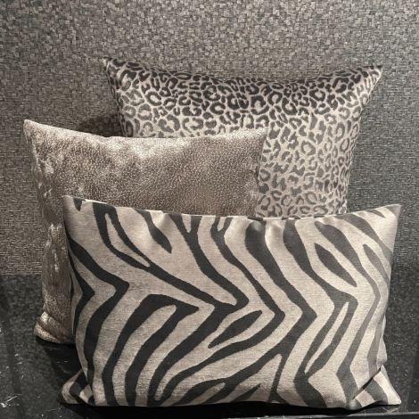 Kussen Taupe Panter/Zebra set van 3