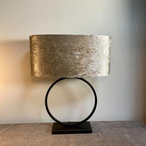 Lampenvoet Zwarte Ringlamp 30cm