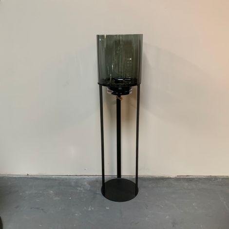 Windlicht Open met Gerookt glas 130cm
