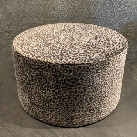 Hocker met panter print