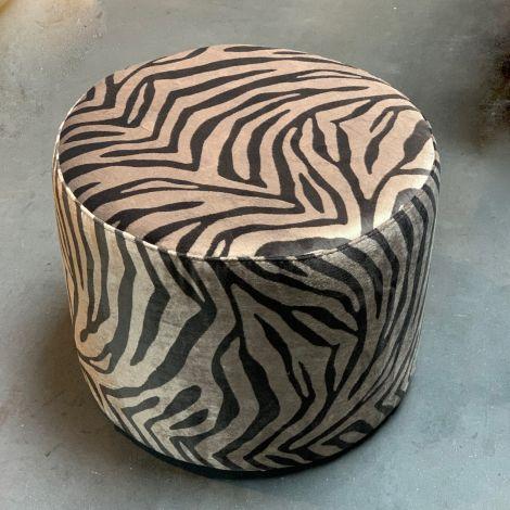 Hocker met zebra print
