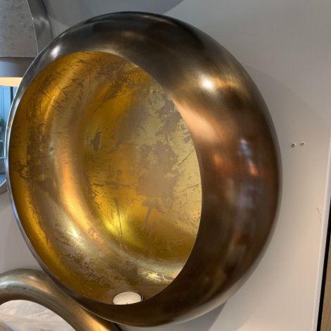 Windlicht ei wand goud/goud groot