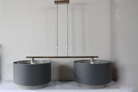 Hanglamp met dubbele lampenkappen