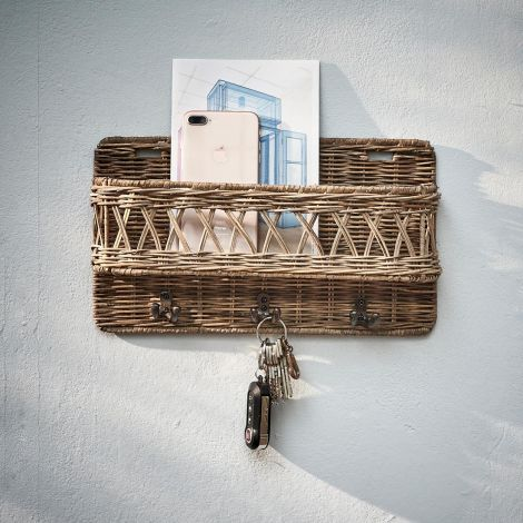 Rivièra Maison Rustic Rattan Hold My Keys Holder