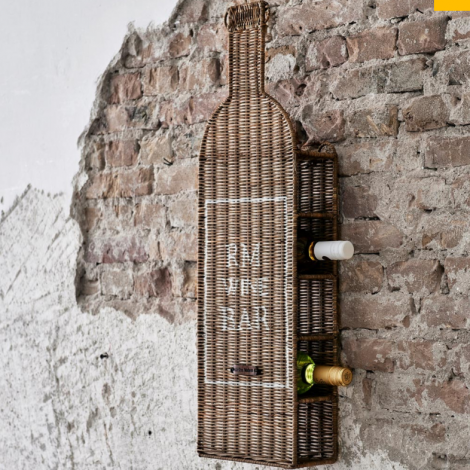 Rivièra Maison Rustic Rattan RM Wine Bar Bottle Holder