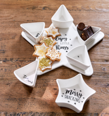 Rivièra Maison Merry Snacking Party Plate