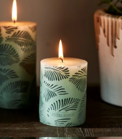 Rivièra Maison Palm Leaves Candle 7 x 10