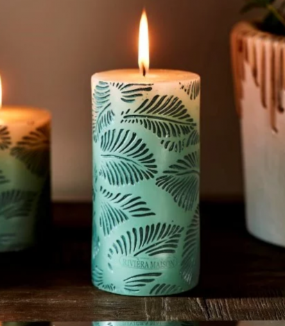 Rivièra Maison Palm Leaves Candle 7 x 14