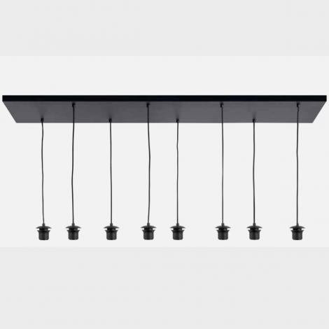 Plafond plaat Zwart 8 Lichts