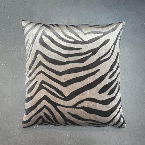 Kussen Taupe Zebra Velours